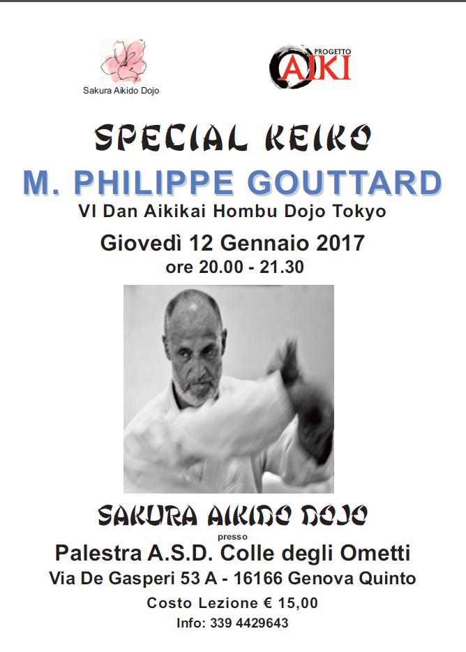 Special Keiko di Philippe Gouttard presso Sakura Aikido Dojo