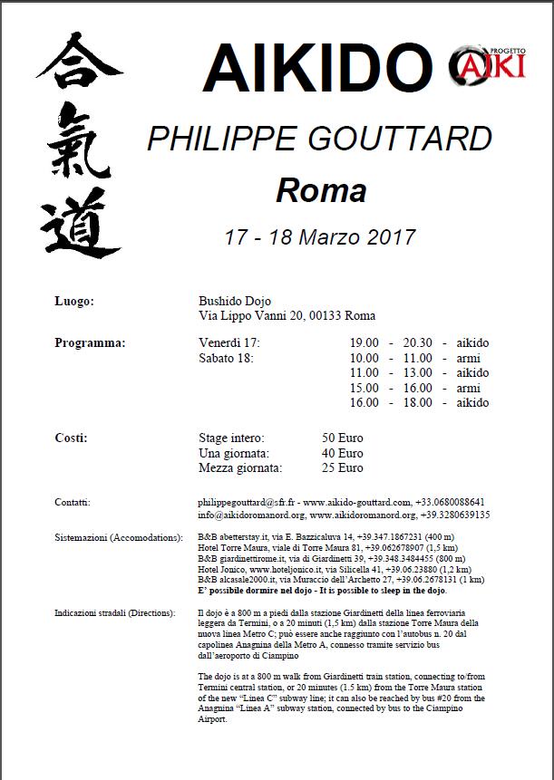Stage di Aikido con Philippe Gouttard a Roma