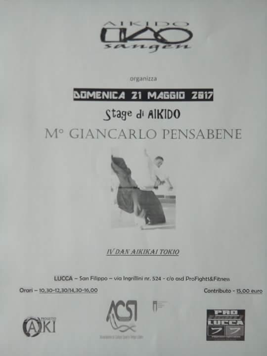 Stage di Aikido, Giancarlo Pensabene, Aikido Sangen, Lucca