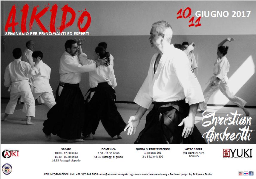 Stage di Aikido, Christian Andreotti, Torino