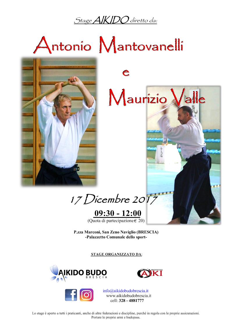 Stage di Aikido, Antonio Mantovanelli, Maurizio Valle, Aikibudo Brescia