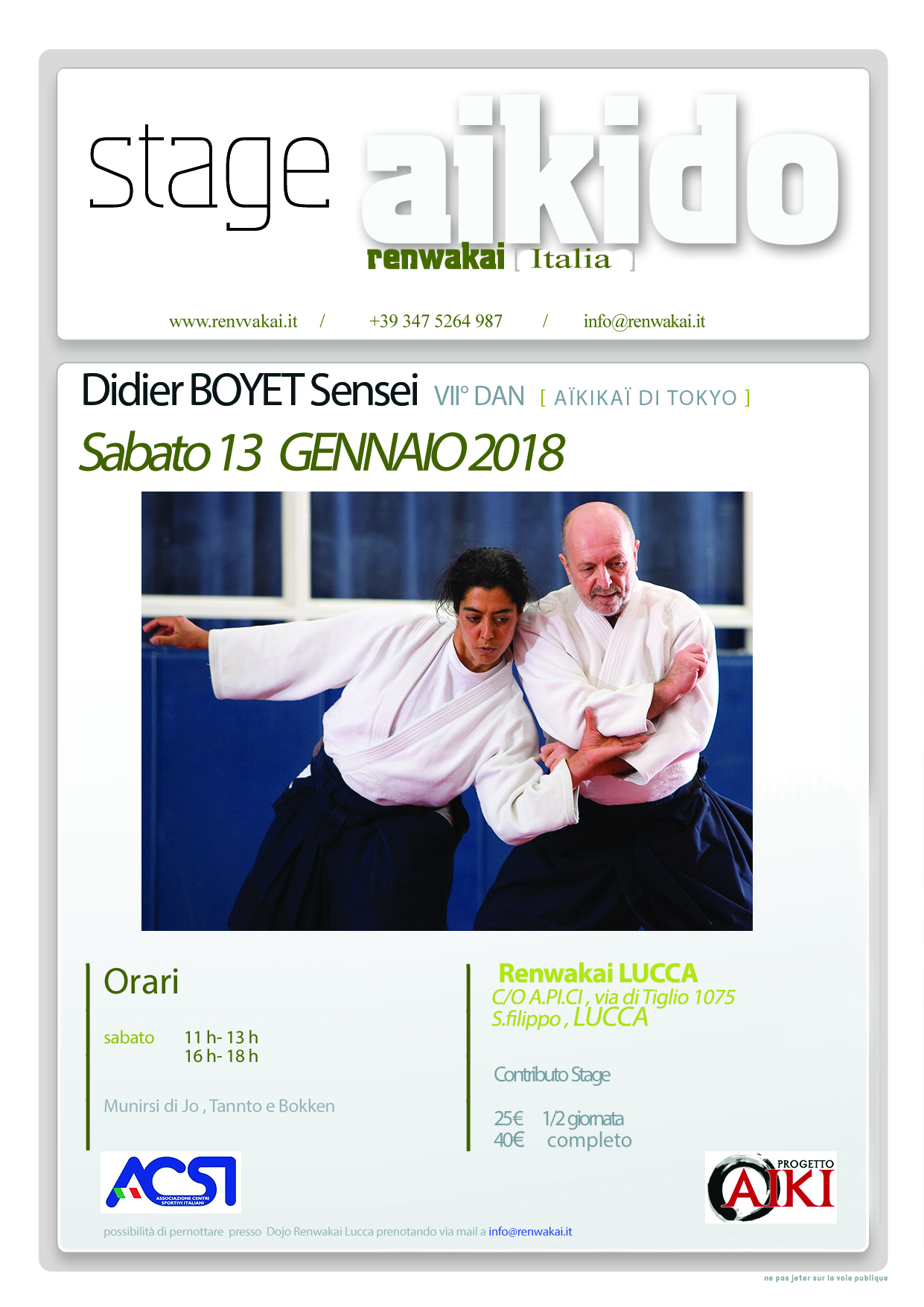 Stage di Aikido, Didier Boyet, Lucca