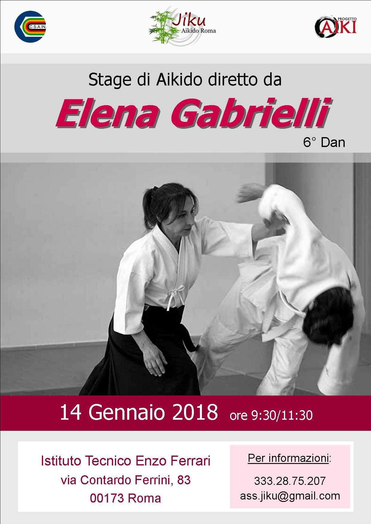 Stage di Aikido, Elena Gabrielli, Roma, Jiku