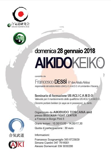 Stage di Aikido, Francesco Dessì, Firenze, Aikibudo Toscana