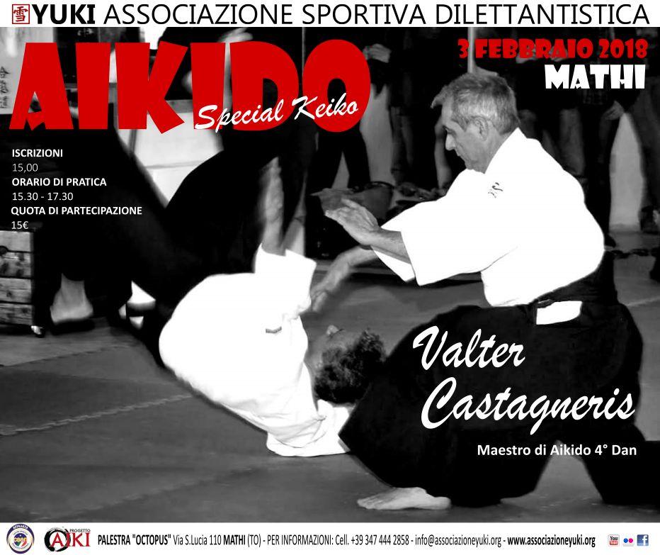 Stage di Aikido, Walter Castagneris, Yuki, Mathi