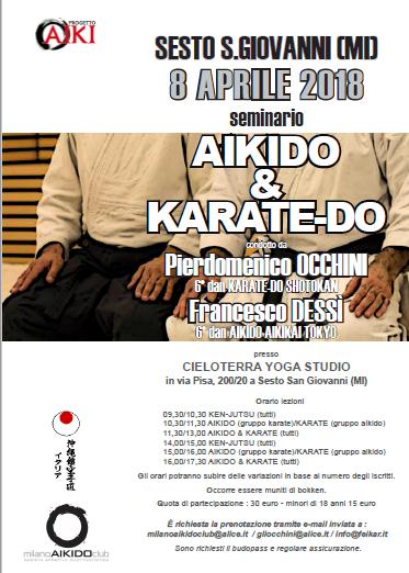 Stage di Aikido e Karate-do, Francesco Dessì, Pierdomenico Occhini, Milano Aikido Club, Sesto San Giovanni