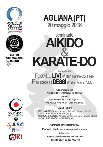 Seminario di Aikido & Karate, Federico Livi, Francesco Dessì, Agliana