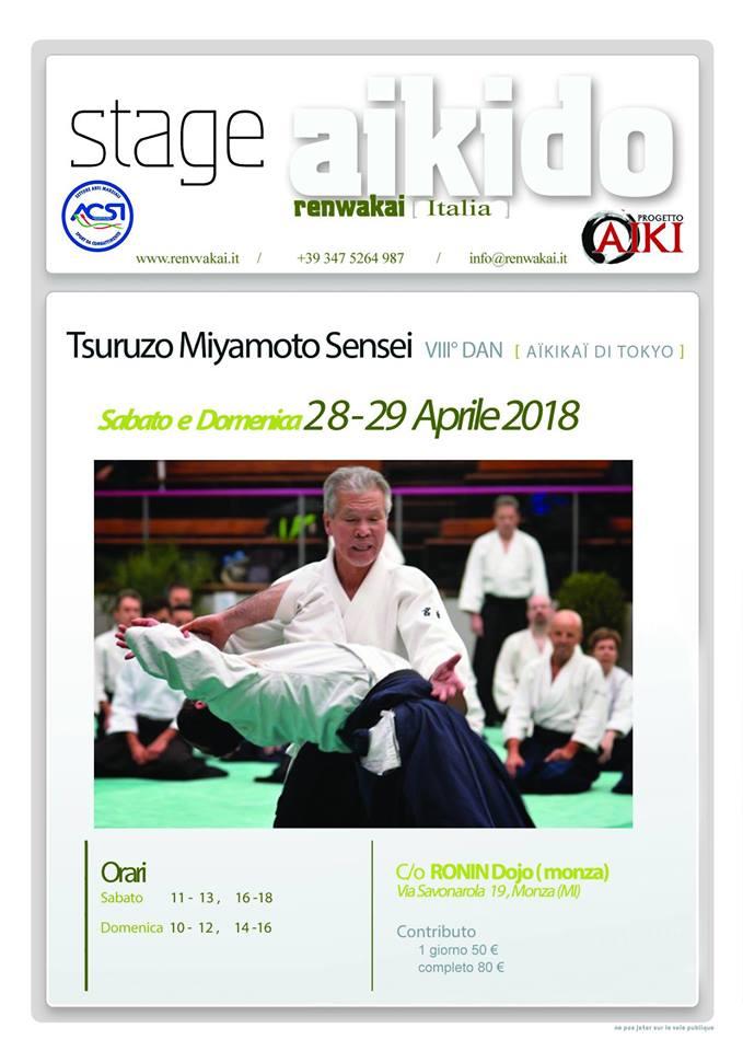 Stage di Aikido, Tsuruzo Miyamoto, Monza, Renwakai Italia