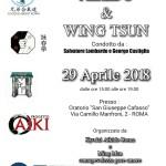 Seminario di Aikido e Wing Tsun, Salvatore Lombardo, George Castiglia, Roma, Kyodai
