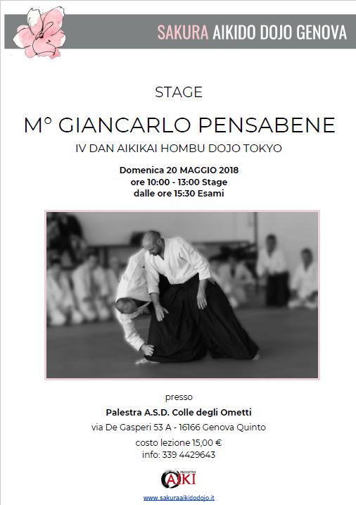 Stage di Aikido, Giancarlo Pensabene, Sakura, Genova Quinto