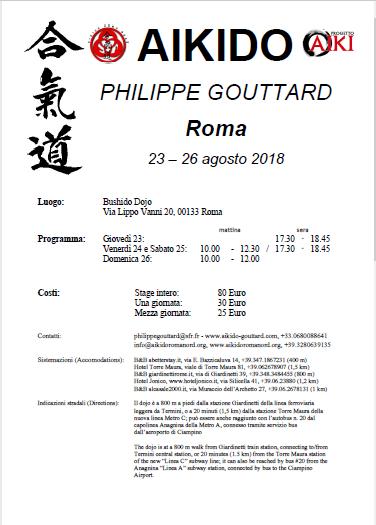 Stage di Aikido, Philippe Gouttard, Roma, Aikido Roma Nord