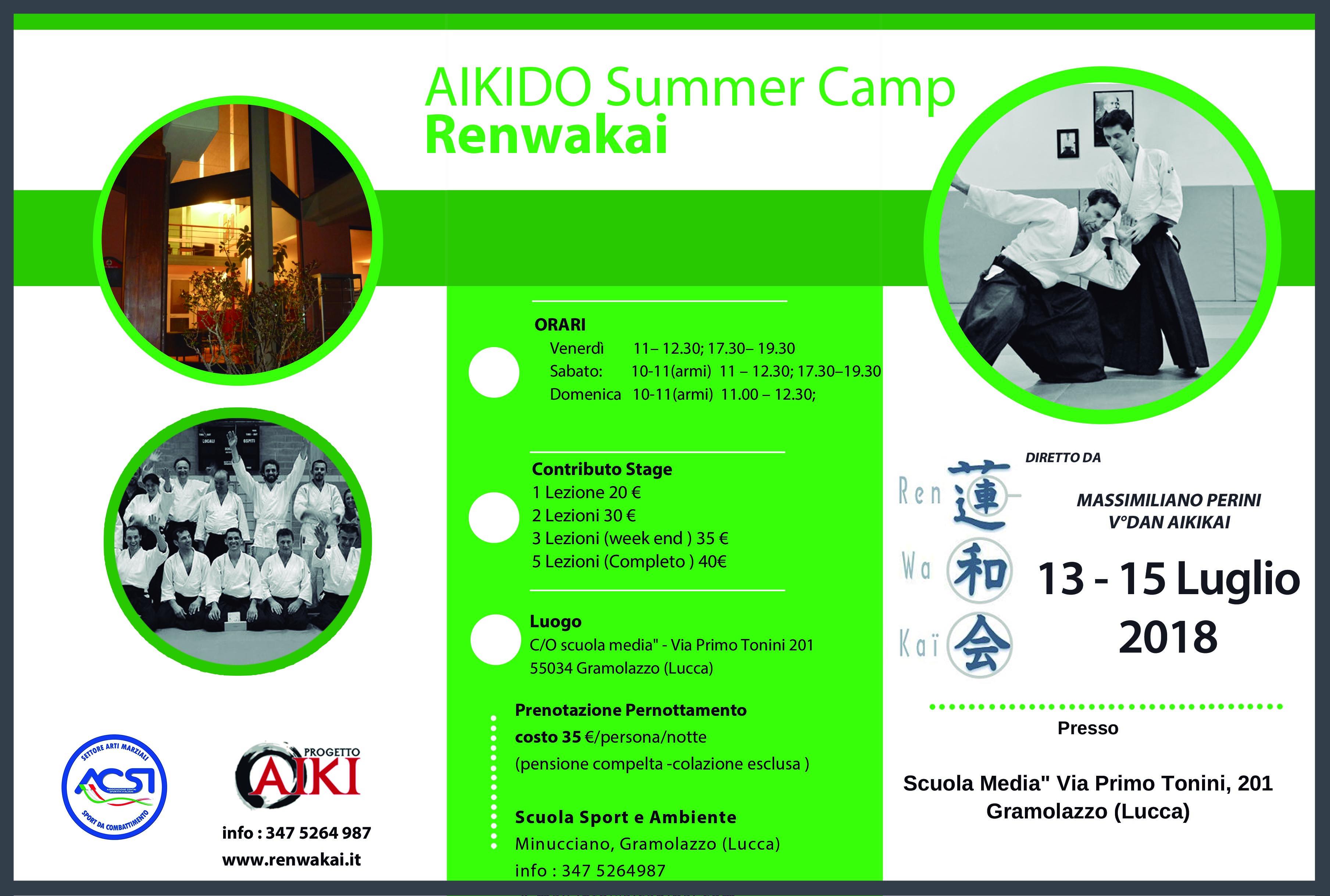 Aikido Summer Camp, Massimiliano Perini, Renwakai, Stage di Aikido, Gramolazzo, Lucca