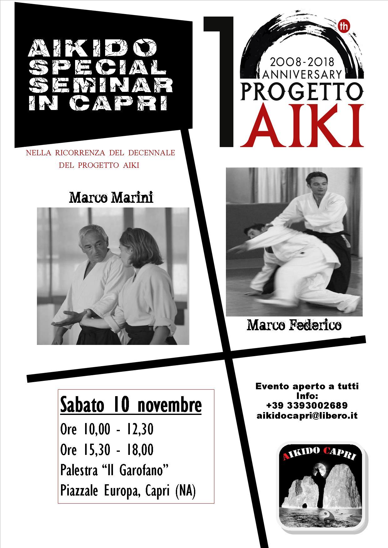 Stage di Aikido, Marco Marini, Marco Federico, Aikido 2000, Aikido Capri