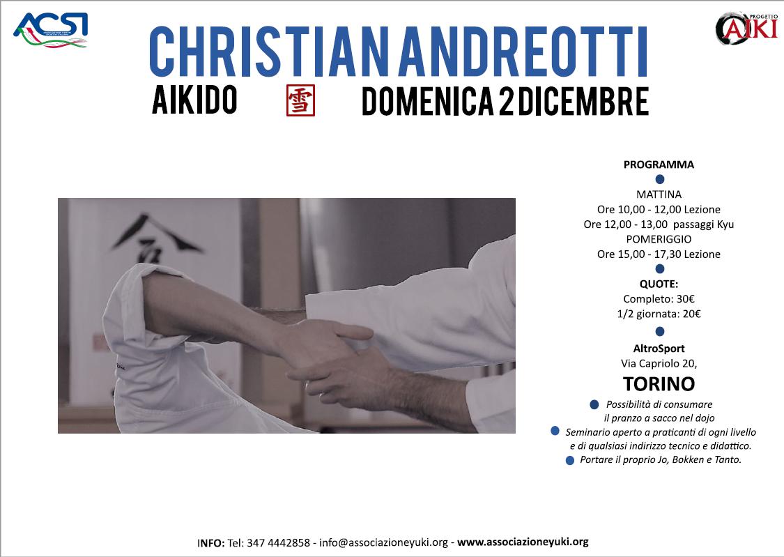 Stage di Aikido, Christian Andreotti, Yuki, Torino, ProgettoAiki