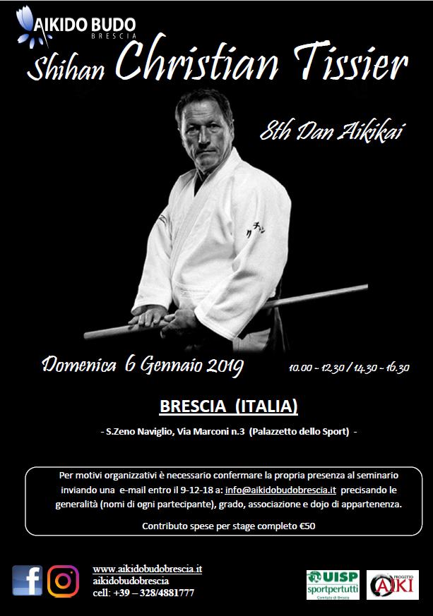 Stage di Aikido, Christian Tissier, ProgettoAiki, Brescia