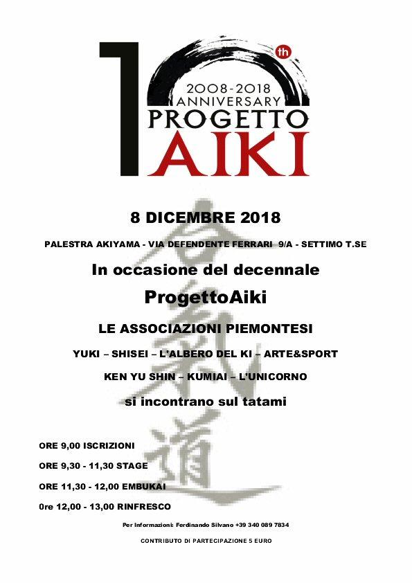 Decennale ProgettoAiki, Yuki, Shisei, L'Albero del Ki, Arte & Sport, Ken Yu Shin, Kumiai, Unicorno, Settimo Torinese