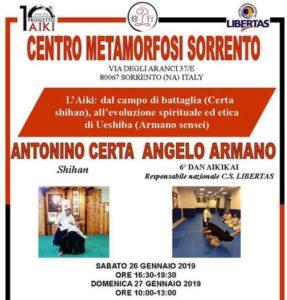 Stage di Aikido, Antonino Certa, Angelo Armano, Aikido Shugyo Sorrento, Sorrento