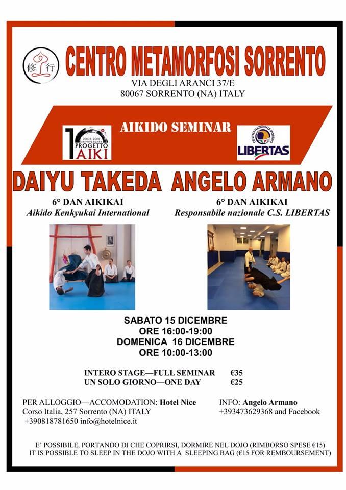 Stage di Aikido, Armano Angelo, Aikido Shugyo Sorrento, Sorrento