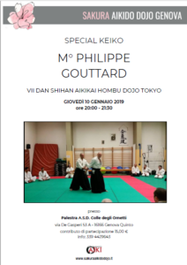 Special Keiko, Philippe Gouttard, Genova, Sakura Aikido