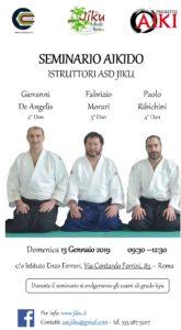 Seminario di Aikido, Istruttori ASD Jiku, Giovanni De Angelis, Fabrizio Morari, Paolo Ribichini, Roma, Jiku