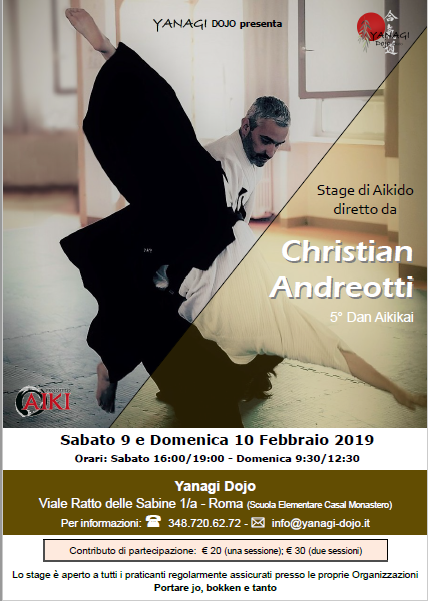 Stage di Aikido, Christian Andreotti, Roma, Yanagi