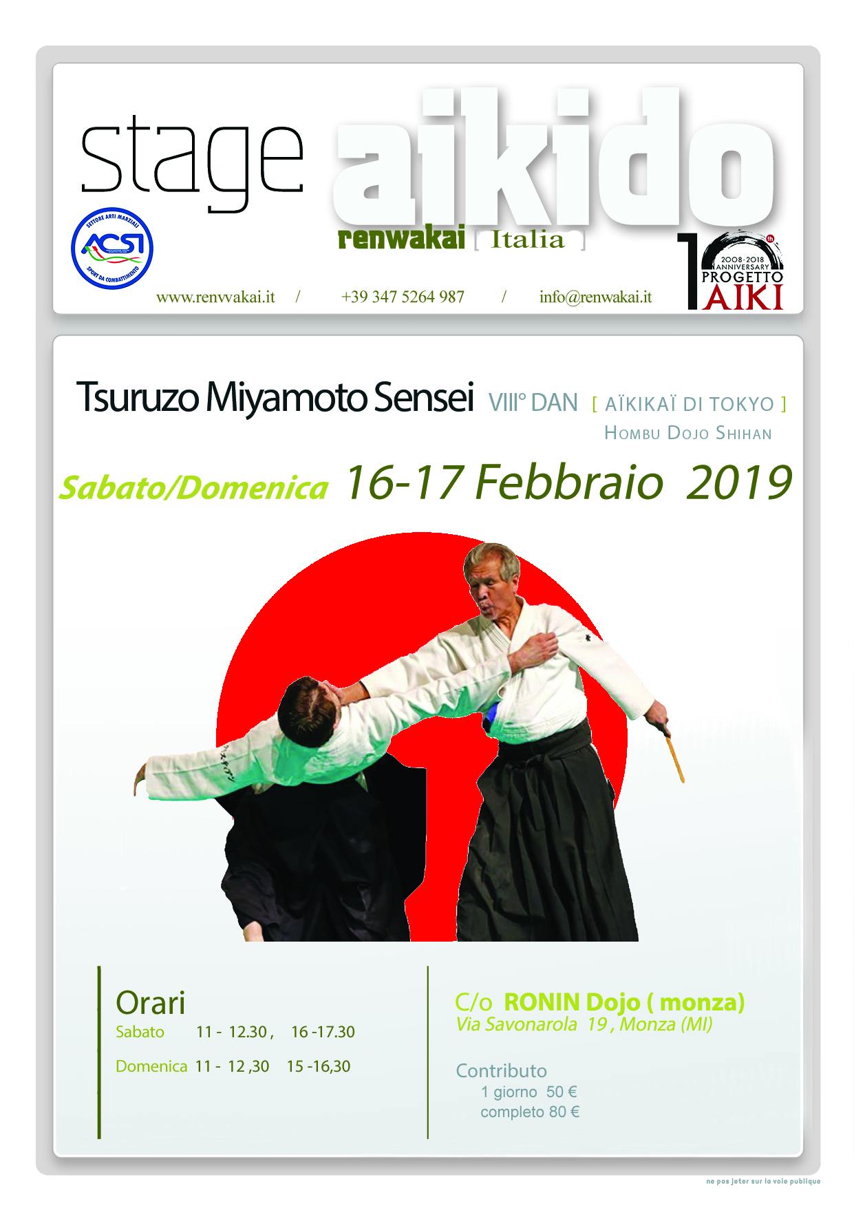 Stage di Aikido, Tsuruzo Miyamoto, Monza, Aikido RWK