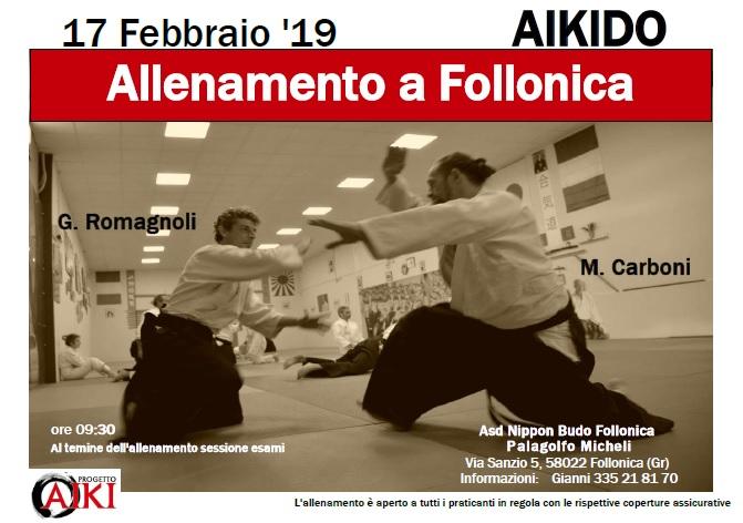 Allenamento di Aikido, Follonica, ASD Nippon Budo Follonica, Marco Carboni, Gianni Romagnoli