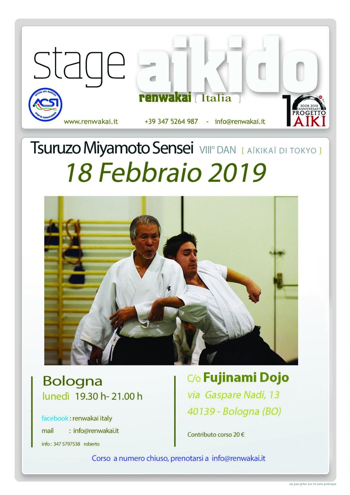 Tsuruzo Miyamoto, stage di Aikido, Bologna, Aikido RWK
