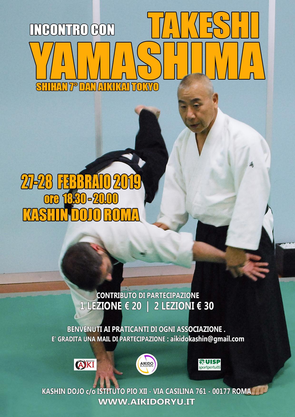 Takeshi Yamashima, Aikido Kashin Roma, Roma