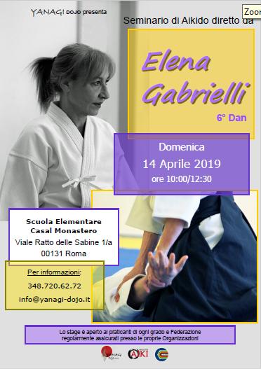 Stage di Aikido, Elena Gabrielli, Yanagi, Roma