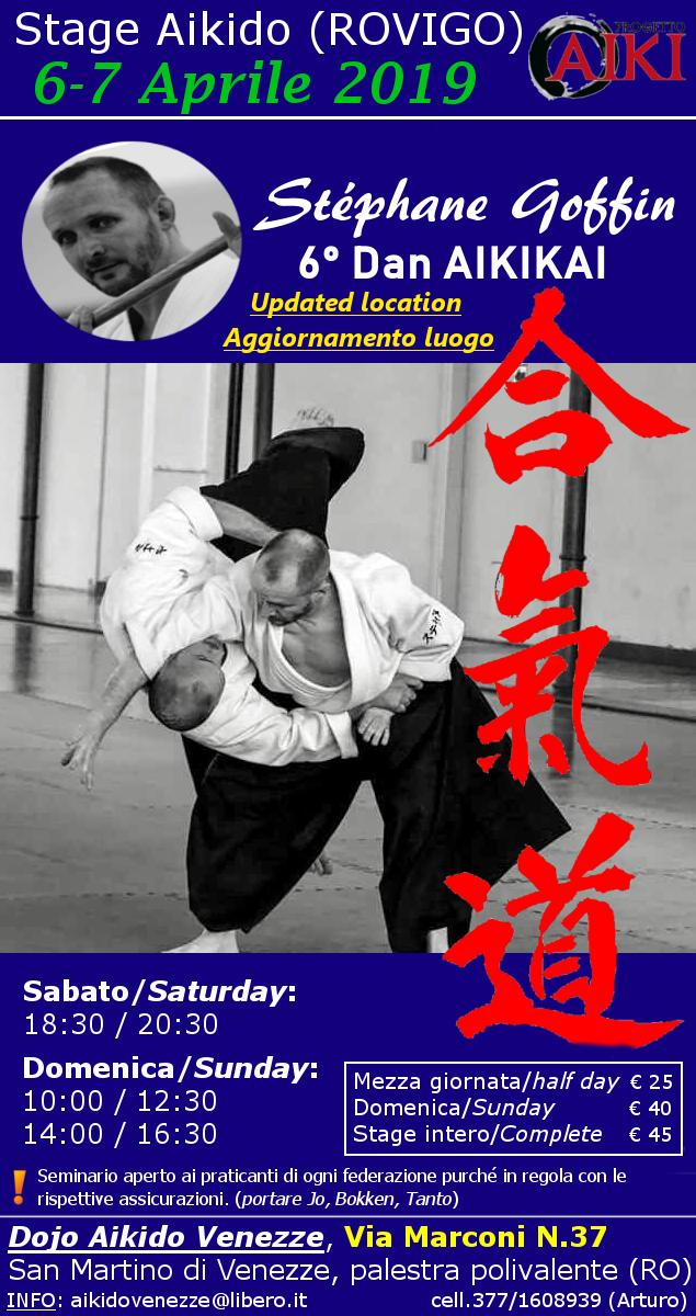 Stage di Aikido, Stephane Goffin, Rovigo, Aikido Venezze
