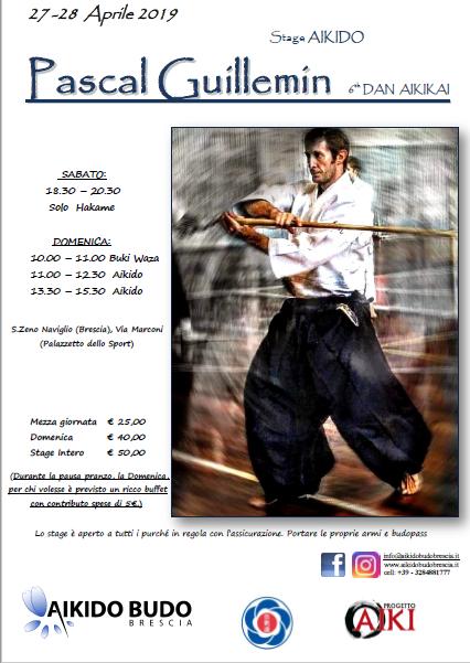 Stage di Aikido, Pascal Guillemin, Aikido Budo Brescia, Brescia