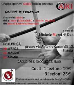 Lezioni di Kenjutsu, Michele Mazzi,Pistoia, G.S.A.I. ASD