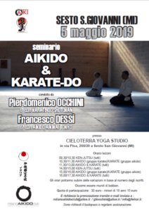 Stage di Aikido & Karate, Pierdomenico Occhini, Francesco Dessì, Milano Aikido Club, Milano