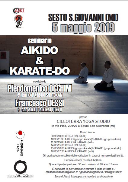 Stage di Aikido & Karate, Pierdomenico Occhini, Francesco Dessì, Milano Aikido Club, Milano