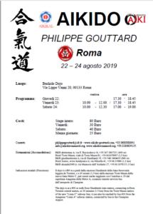 Stage di Aikido, Philippe Gouttard, Aikido Roma Nord, Roma