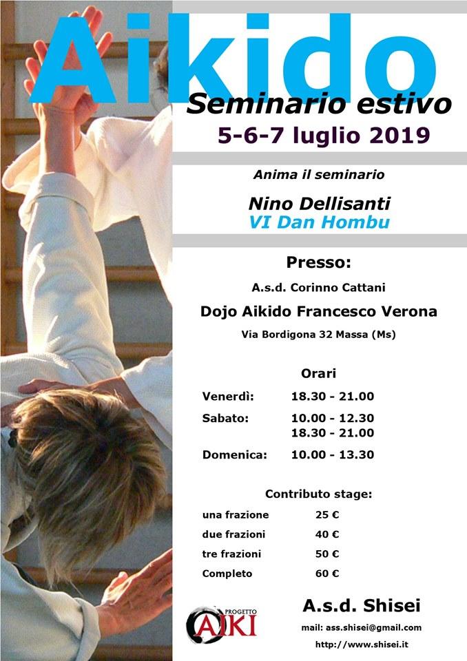 Seminario di Aikido, Nino Dellisanti, Shisei, Massa