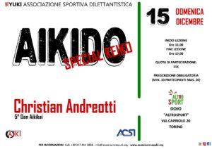 Aikido Special Keiko, Christian Andreotti, Torino, YUKI ASD, Palestra Altro Sport