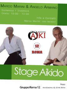 Stage di Aikido. Marco Marini, Angelo Armano, Roma