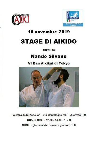 Stage di Aikido, Nando Silvano, Quarrata, PT