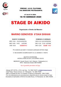 Stage di Aikido, M° Marino Genovesi, Pietrasanta LU, ASD FUJIYAMA