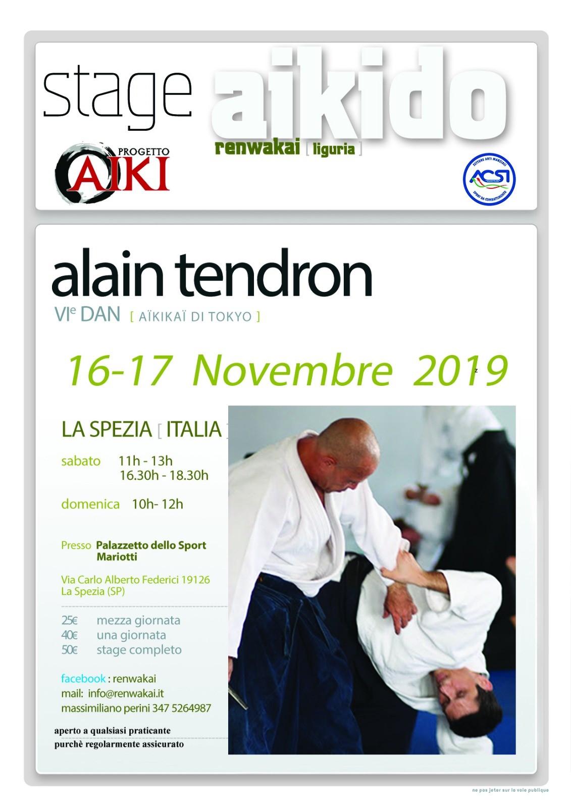 Stage - Alan Tendron- 16-17 NOV. - LA SPEZIA