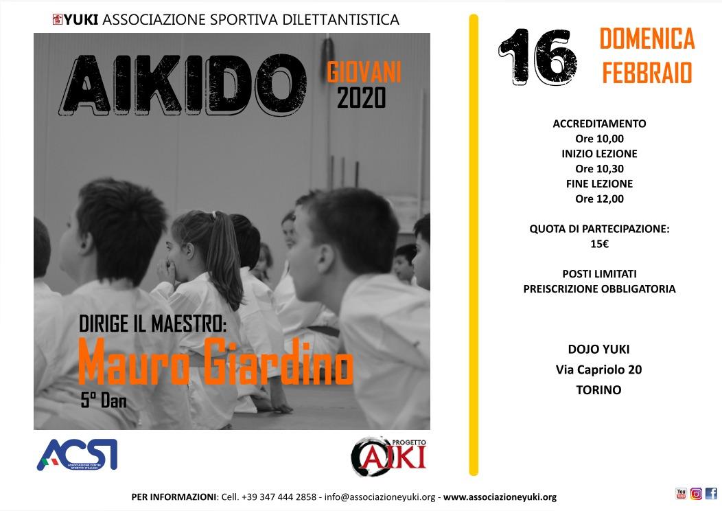 Stage Aikido Giovani, Mauro Giardino, Torino, Yuki ASD