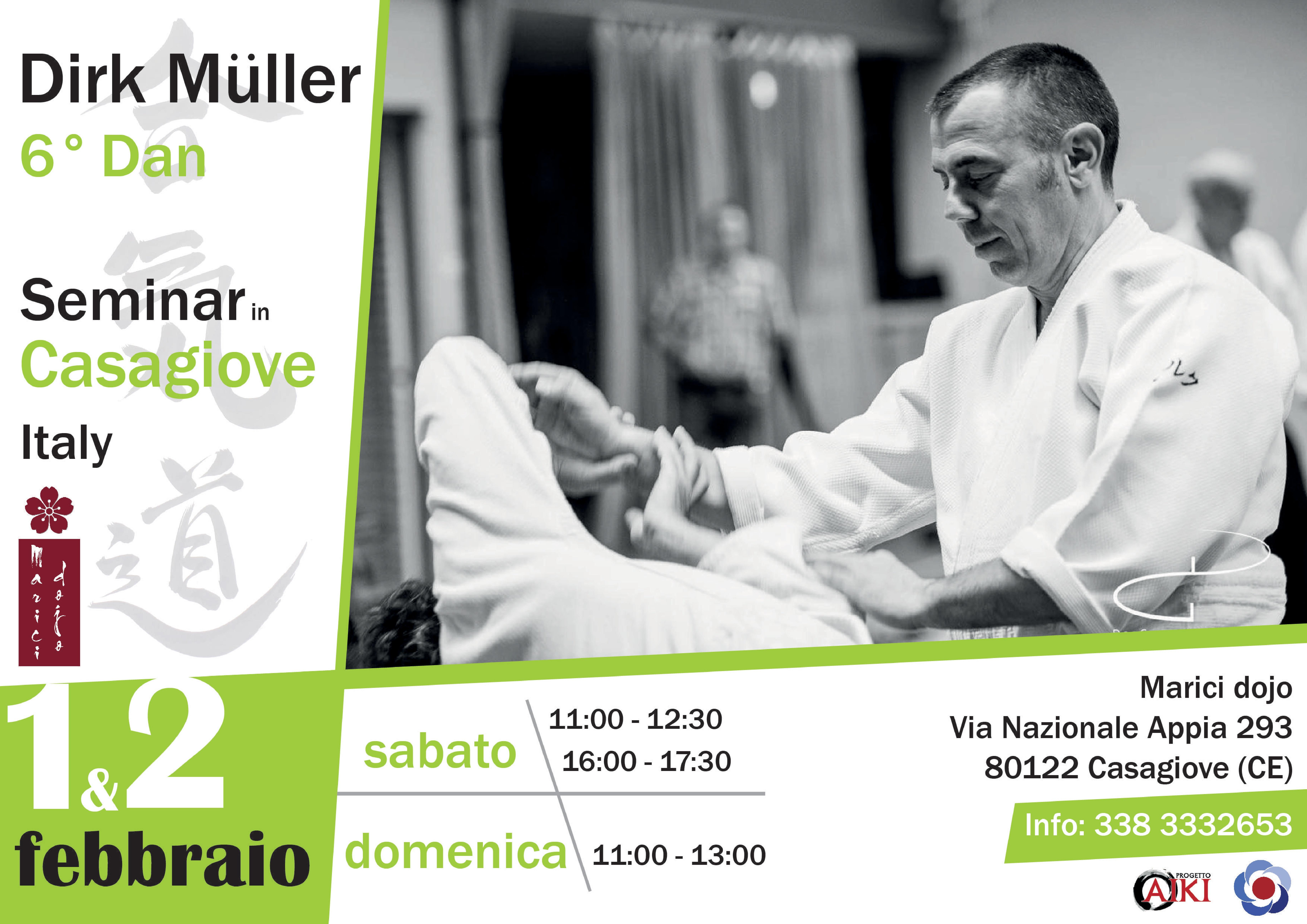 Stage di Aikido,Dirk Muller, CASAGIOVE (CE), Marici Dojo
