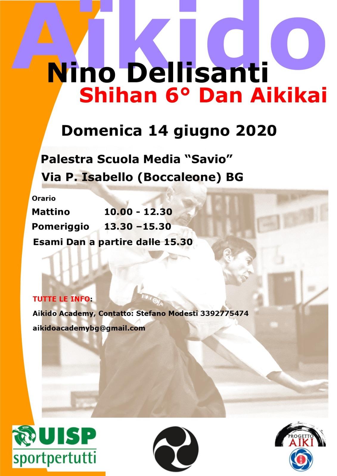 Stage di Aikido, Nino Dellisanti, Boccaleone BG, Aikido Academy